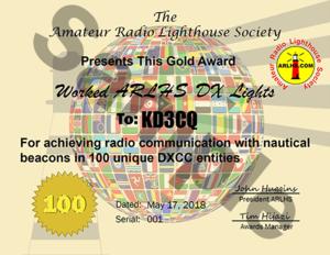 ARLHS Certificate Gold DXCC