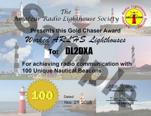 ARLHS Gold Chaser Award